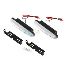 2x 8 LED Daytime Driving Running Light Waterproof DRL Car Fog Lamp White DC 12V
