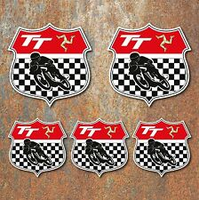 Isla De Man TT Escudo Sticker Set Clásico Moto Motorsport Calcomanías