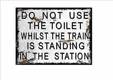 Railway Station Sign Reproduction British Rail Toilet Sign Vintage Rail Sign