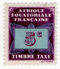 (I.B) France Colonial Revenue : Equatorial Africa 5c