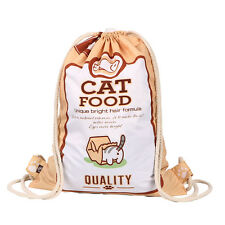 Japanese Game Neko Atsume Kitty Collector Cat Food Bag Drawstring Backpack Gift