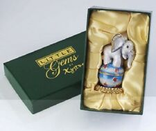 LITTLE GEMS by XYSTOS - CIRCUS ELEPHANT TRINKET BOX - METAL / ENAMELLED - NEW