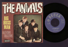 "7"" ERIC BURDON & THE ANIMALS BIG BOSS MAN / BOOM BOOM MADE IN ITALY DECCA 1966"