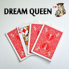 Magician's Dream Queen Mentalism Illusion Effect Real Card Gimmick Magic Trick