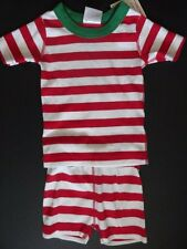NWT Hanna Andersson 80cm 18-24 Months Bold Striped Red Short John Pajamas Unisex