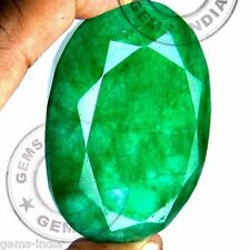 FINEST GREEN 660 CT NATURAL [CERTIFIED] BRAZILIAN EMERALD OVAL FACETED GEMSTONE