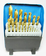 Titanium Coated HSS Drill Bit Set BERGEN 2537 1mm to 10mm 19pcs Engineering