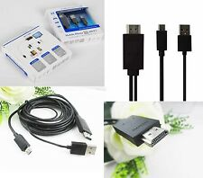 MHL Micro USB to HDMI HDTV CABLE LEAD FOR SAMSUNG GALAXY S3/S4/S5/Note 2/3/4: BL