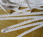 1/3/5m Vintage White Cotton Crochet Edge Lace Trim Ribbon Applique Sewing Crafts