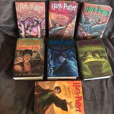 Complete Harry Potter Full Book Set Volumes 1 - 7 Hardback