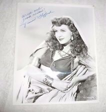 VINTAGE PHOTO FRANCES GIFFORD SIGNED INSCRIBED FROM TARZAN TRIUMPHS 1943