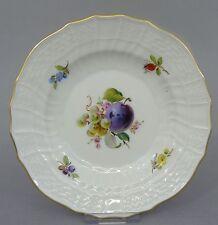 Meissen Teller, Neubrandenstein Relief, Obst- Früchte  Dekor, D=15 cm, 1.Wahl #3