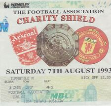 ARSENAL v MANCHESTER UNITED ~ CHARITY SHIELD ~ 7 AUGUST 1993 ~  MATCH TICKET