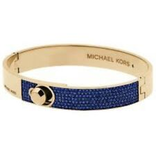 MICHAEL KORS NWT ASTOR PARISIAN COBALT BLUE & GOLD BANGLE BRACELET MKJ5090710