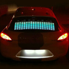 Activated Car Music Sticker Equalizer Glow Rhythm Blue Flashing LED Light Lamp