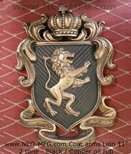 Animal LION Rampant Lowenbrau sculpture wall frieze Coat arms 12""