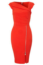 Red Pleated Shift Bodycon party dresses cocktail casual women clubwear summer