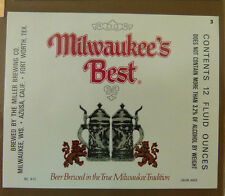 VINTAGE AMERICAN BEER LABEL - MILLERS BREWERY, MILWAUKEES BEST 12 FL OZ