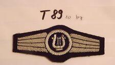 Bundeswehr TTA Militärmusikpersonal silber - blaugrau Handgestickt (t89-)