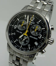 Mens Authentic Swiss Made Tissot PRC200 Chronograph T17.1.586.52 Stainless Watch