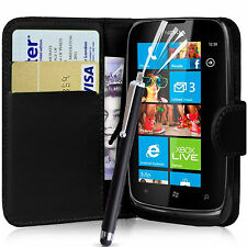 WALLET FLIP PU LEATHER CASE COVER POUCH FOR NOKIA LUMIA 510 MOBILE PHONE