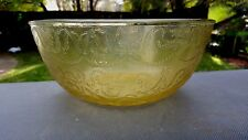 Amber Madrid Large Deep Salad Bowl 9 1/2 In 1932-1939
