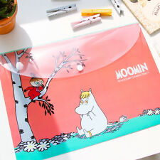"""""""Moomin"""" File Folder Pack of 4 One Layer A4 Cute Plastic Document Bag"""