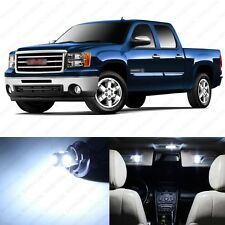 8 x Xenon White LED Interior Light Package For 2007 - 2014 GMC Sierra