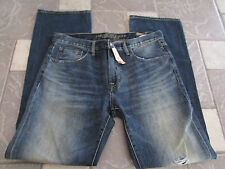 NEW AMERICAN EAGLE ORIGINAL BOOT JEANS MENS 34X34 DESTROYED MEDIUM FREE SHIP