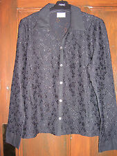 Black Lace Effect Blouse by Next Size 16 BNWOT