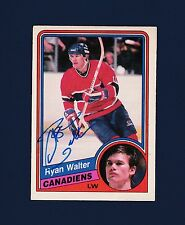 Ryan Walter signed Montreal Canadiens 1984 Opee Chee hockey card