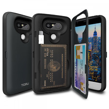 LG G5 Case, TORU [CX PRO] G5 Wallet Case - [CARD SLOT][ID HOLDER] Protective Hid