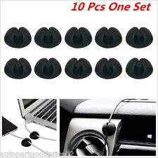 10Pcs Cables Drop Clips Ties Cable USB Cable Charger Holder Organizer Car/Office