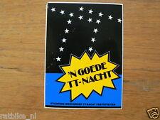 STICKER,DECAL DUTCH TT ASSEN 1984 EEN GOEDE TT NACHT