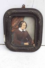 Minature painting of woman Victorian