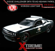 ACME A1806007 1:18 DODGE CHALLENGER SRT8 TEXAS HIGHWAY PATROL W/ LED LIGHTBAR