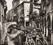 1925 Original ITALY Photo Gravure VENICE Rio Della Panada Architecture HIELSCHER