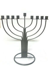 Metal Chanukah MENORAH - - - -חנוכה מנורה jewish chanuka candle judaica hanukka