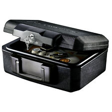 Black Small Office Security File Safe Document Storage Fireproof Lock Box Keys