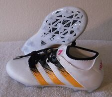 NEW Adidas ACE 16.2 Primemesh FG Womens Soccer Cleats 8.5 White/Neon Orange $130