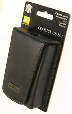 CUSTODIA VERA PELE FOTOCAMERA CS-S01 NIKON COOLPIX ORIGINALE CAMERA CASE
