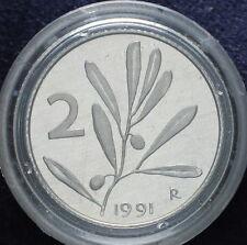 1991   Repubblica Italiana  2  lire   FONDO SPECCHIO  da divisionale