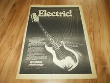 Yamaha BB bass guitar-1978 poster sized press advert