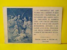 MONTEFALCONE VAL FORTORE: Biglietto auguri del Santuario di Maria SS.del Carmine