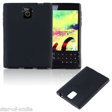 Black Premium Matte TPU Skin Soft Back Phone Case Cover for BlackBerry Passport