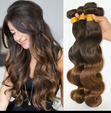8A 400g/4bundles Unprocessed Ombre 4/30 Malaysian Bodywave Human Hair