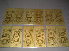 McDonald's Softhard Chinese NEW YEAR Zodiac Animals Envelopes 12