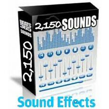 Over 2150 Sound Effects Royalty Free WAV Audio on CD