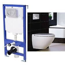 New Concealed Frame and Cistern Hung Toilet Wall Bathroom WC Flush