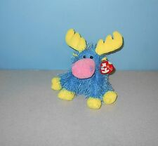 "TY Punkies Marbles the Moose Bean Floppy Stuffed Plush 8"" Animal w/ Tag"